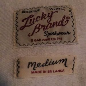 Men's Lucky Brand western styled shirt